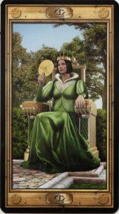 Таро Универсальный Ключ Изображение аркана Королева Пентаклей