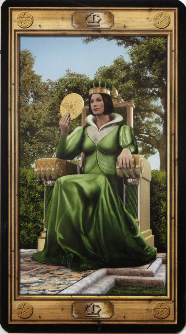Таро королева пентаклей в сочетании с другими картами таро