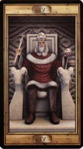 Таро Универсальный Ключ Изображение Старшего Аркана 04 Император