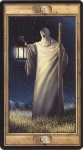 Таро Универсальный Ключ Изображение Старшего Аркана 09 Отшельник