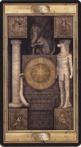 Таро Универсальный Ключ Изображение Старшего Аркана 10 Колесо Фортуны