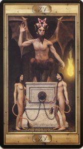 Таро Универсальный Ключ Изображение Старшего Аркана 15 Дьявол