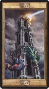 Таро Универсальный Ключ Изображение Старшего Аркана 16 Башня