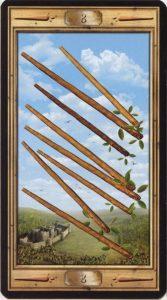 Таро Универсальный Ключ Изображение аркана 8 Жезлов