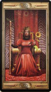Таро Универсальный Ключ Изображение аркана Королева Жезлов