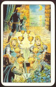 Таро Зеркало Судьбы изображение аркана 8 Кубков