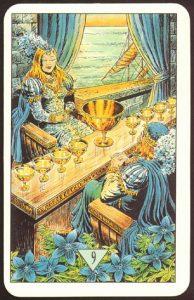 Таро Зеркало Судьбы изображение аркана 9 Кубков