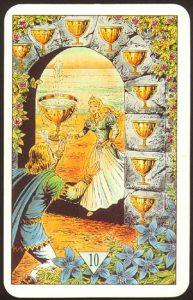 Таро Зеркало Судьбы изображение аркана 10 Кубков