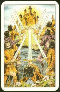 Таро Зеркало Судьбы изображение аркана 7 Мечей