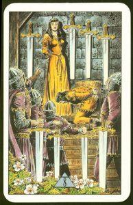 Таро Зеркало Судьбы изображение аркана 8 Мечей