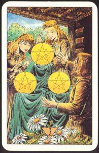 Таро Зеркало Судьбы изображение аркана 3 Пентаклей
