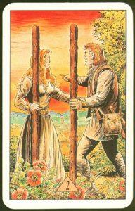 Таро Зеркало Судьбы изображение аркана 2 Жезлов