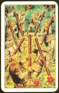 Таро Зеркало Судьбы изображение аркана 7 Жезлов